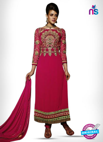 Kesari Trendz 8003 Pink Georgette Party Wear Suit