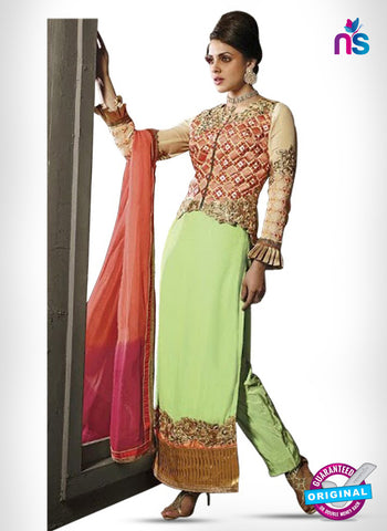 Kesari Trendz 8002 Green Georgette Party Wear Suit