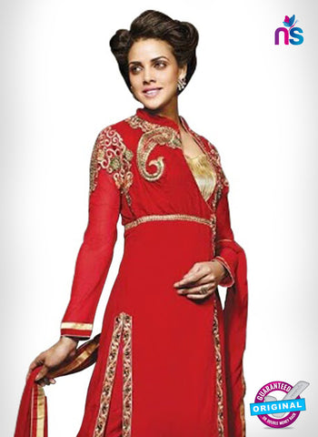 SC 14332 Red Georgette Party Wear Suit