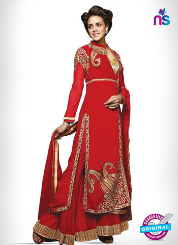Kesari Trendz 8006 Red Georgette Party Wear Suit