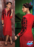 AZ 2345 Red Georgette Fancy Designer Party Wear Kurti