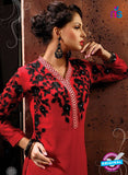 AZ 2345 Red Georgette Fancy Designer Party Wear Kurti - Kurtis - NEW SHOP