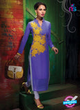 AZ 2348 Purple Georgette Fancy Designer Party Wear Kurti