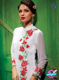 AZ 2349 White Georgette Fancy Designer Party Wear Kurti - Kurtis - NEW SHOP