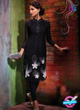 AZ 2350 Black Georgette Fancy Designer Party Wear Kurti