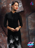 AZ 2350 Black Georgette Fancy Designer Party Wear Kurti - Kurtis - NEW SHOP