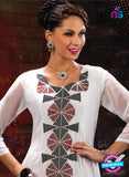 AZ 2353 White Georgette Fancy Designer Party Wear Kurti