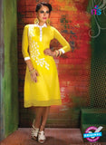 AZ 2354 Yellow Georgette Fancy Designer Party Wear Tunic