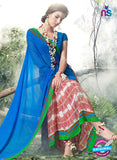 NS11907  Blue Chiffon Saree