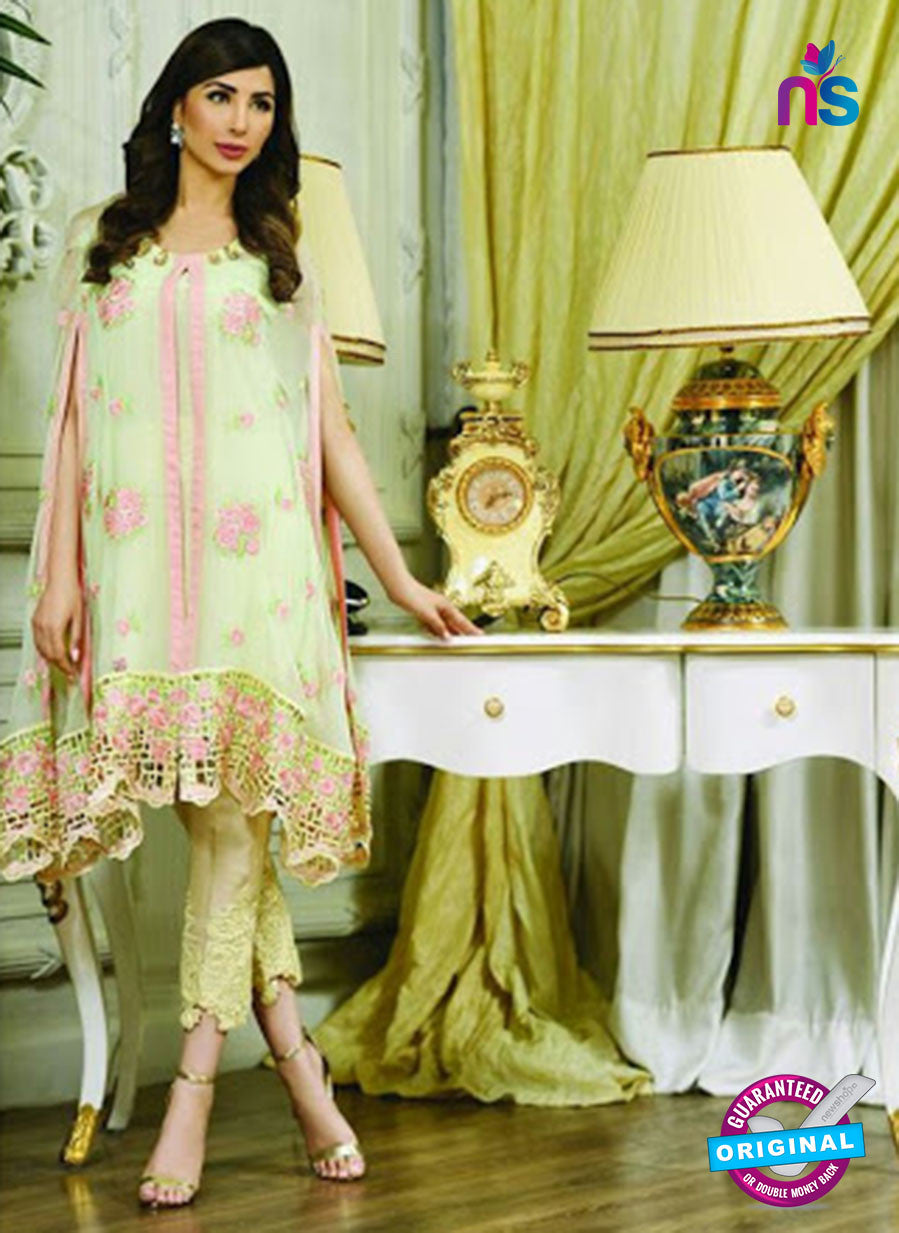 AZ 2018 Green and Pink Georgette Party Wear Pakistani  Suit