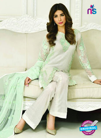 AZ 2020 White Georgette Party Wear Pakistani  Suit