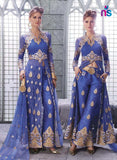 SC 12448  14001 Blue and Beige Georgette Net Party Wear Designer Replica Suit