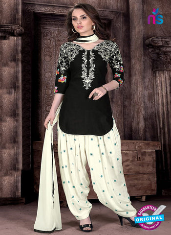 L02 Black Cotton Patiala Salwar Suit
