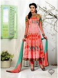 NS11672 Pink and AquaGreen Party Wear Anarkali Suit