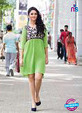 NS11762 Light Green and Black Georgette Tunic Online