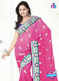 NS12267 Pink and Green Designer Saree