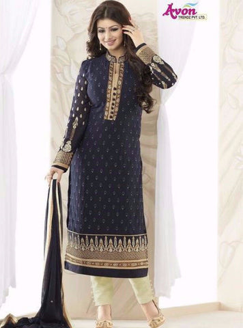Avon 992 Blue Color Georgette Designer Suit