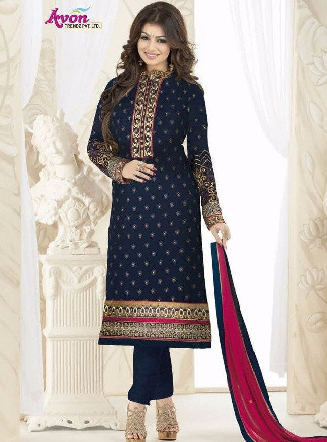 Avon 995 Blue Color Georgette Designer Suit