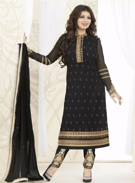 Avon 998 Black Color Georgette Designer Suit