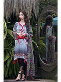 NS11259 Lavender and Multicolor Daily Wear Printed Satin Pakistani Suit