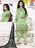 NS10157 Green Color Cotton Patiala Designer Suit