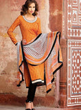 Bahni 9024 Orange Color Cotton Designer Suit