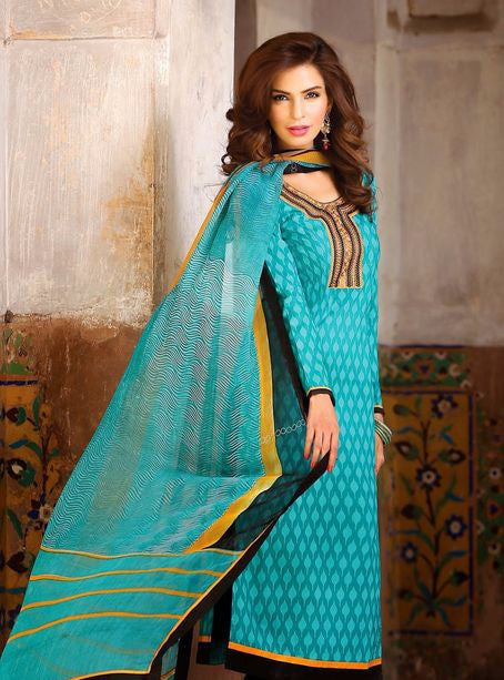 Bahni 9029 Blue Color Cotton Designer Suit