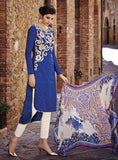 Bahni 9088 Blue Color Jacquard Cotton Designer Suit