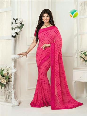 Vinay Fashion Star Walk  16986  Magenta Casual Georgette Saree