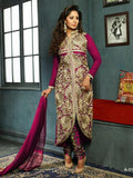 NS11569  A Magenta Designer Georgette Straight Suit
