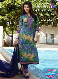 NS10230  Green and Yellow Printed Glace Cotton Daily Wear Straight Suit