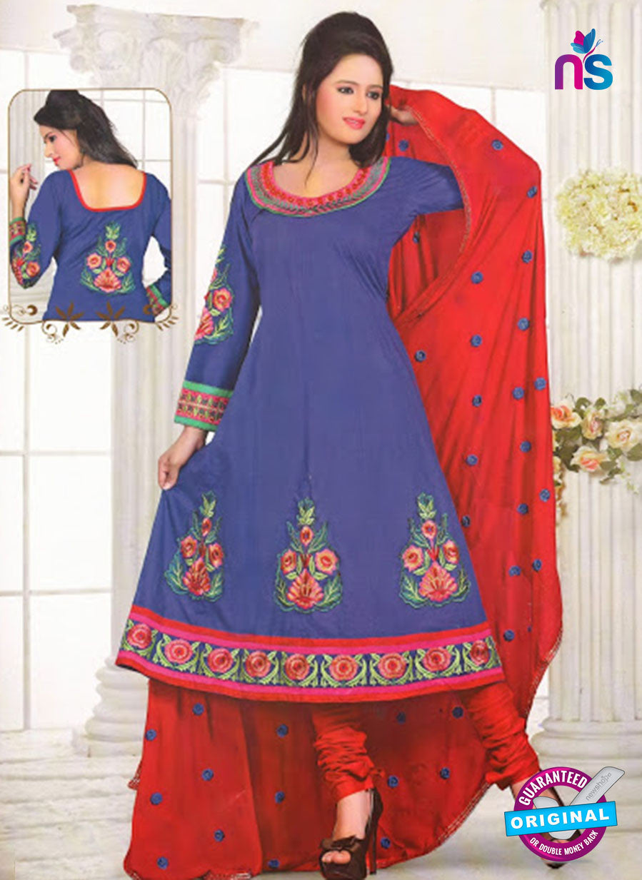 NS10243 and Red Cotton Anarkali Suit