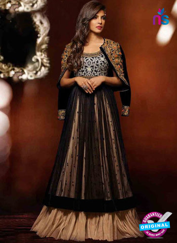 black net designer anarkali suit