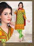 NS12097 Green and Yellow Chudidar Suit