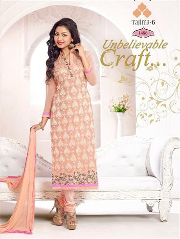 NS11792  Pink Georgette Straight Suit
