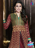 NS10474 D Green and Maroon Designer Suit