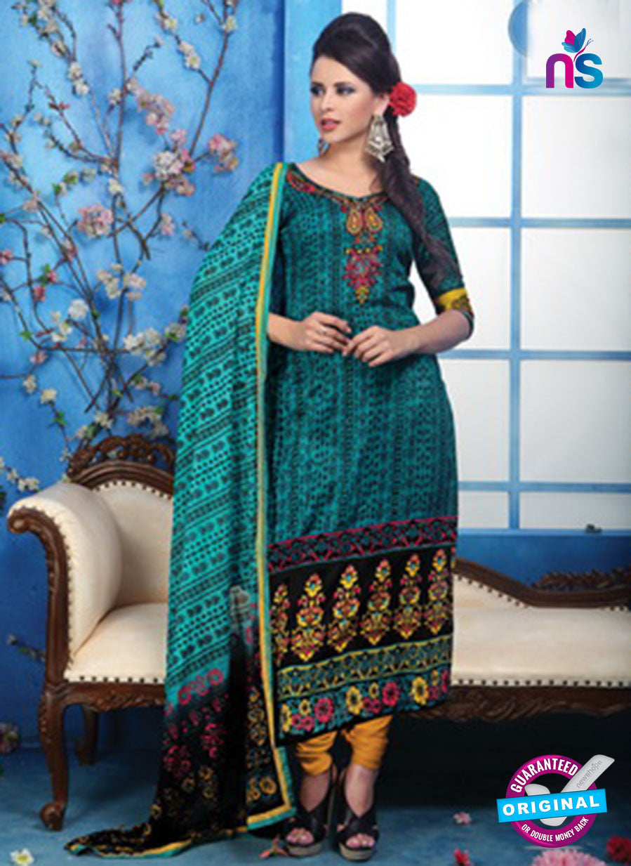 NS10508 Fiona Jodha  Printed Glace Cotton Suits