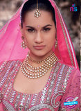 NS10571 Gandhari Pink And Beige Georgette Gawn