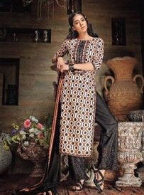 Ganga 3532 Black Color Cotton Designer Suit