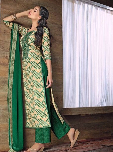 Ganga 3539 Green Color Cotton Designer Suit