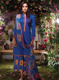 Ganga 5431B Blue Color Glace Cotton Designer Suit