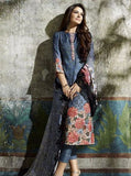 NS10639  Blue Color Pashmina Long Designer Suit