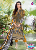 NS10670 Orange and Black Printed Cambric Cotton Designer Straight Suit