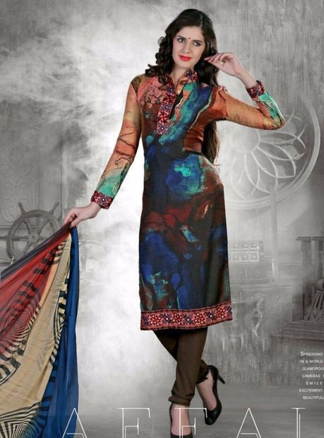NS10696 Multicolor Color Pashmina Designer Suit