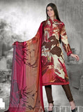 NS10701  Red & Brown Color Pashmina Designer Suit