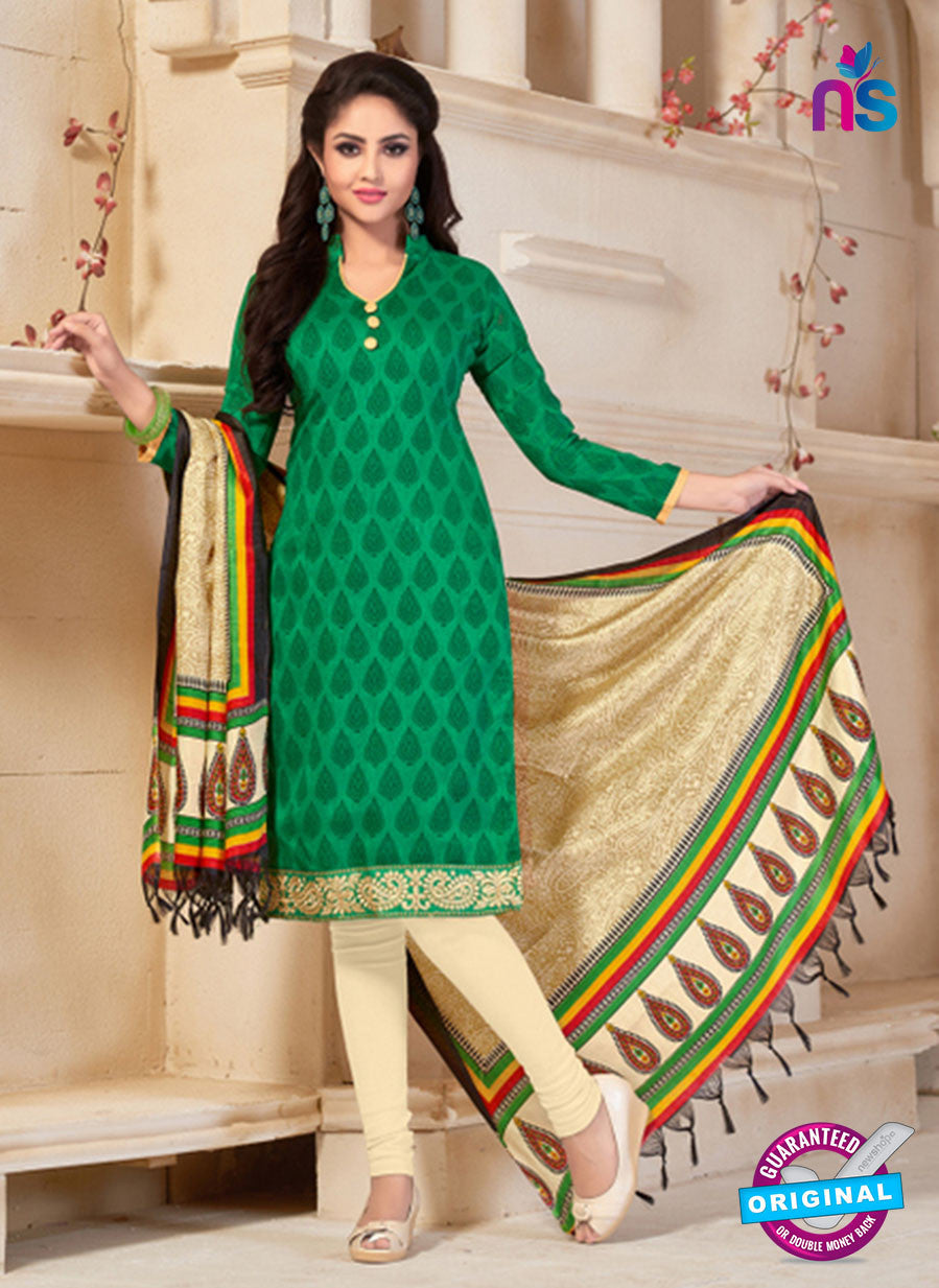NS10681 Green and Yellow Silk Designer Suit