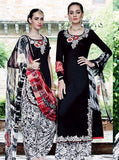 NS10723 Black Color Satin Cotton Designer Suit