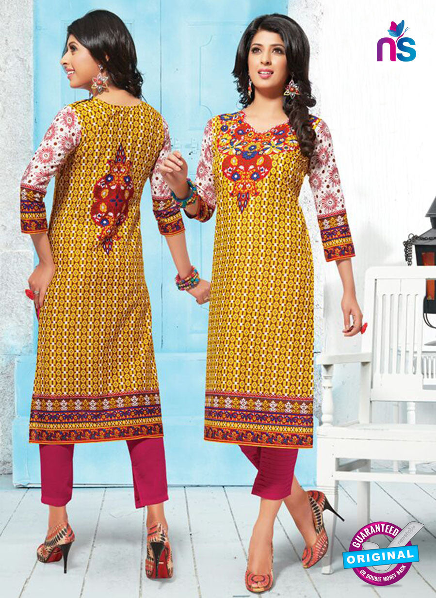 NS 12012 Yellow and Red Pakistani Suits