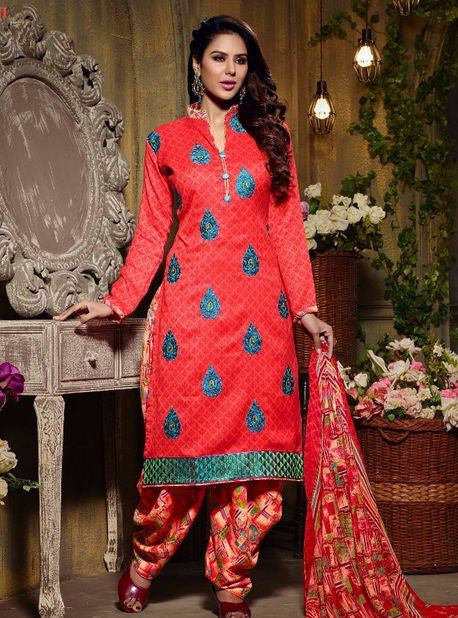 Hemani 28004B  Orange Color Pashmina Designer Suit