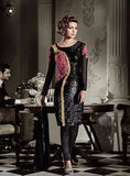 Heroine 5119 Black Color Georgette Straight Cut Style Designer Suit